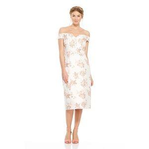 Gal Meets Glam Floral Off-the-Shoulder Midi Dress